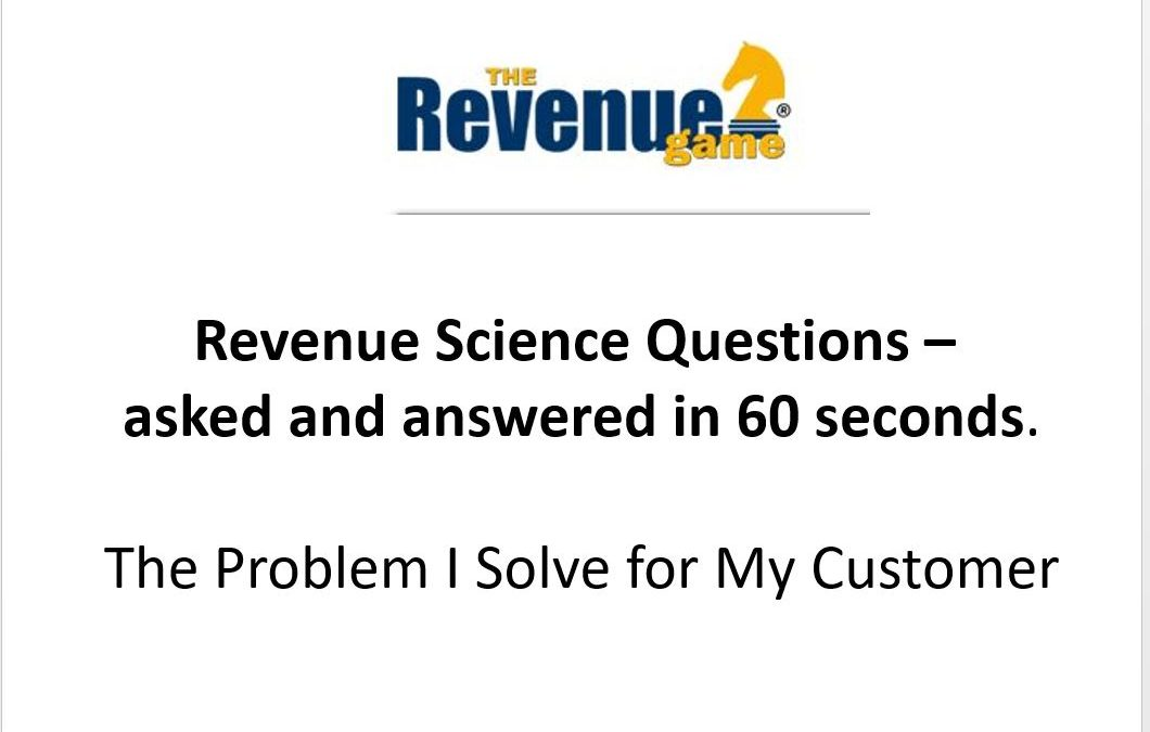 The Problem I Solve for My Customer- VIDEO